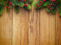 Christmas fir tree on wooden board - PhotoDune Item for Sale