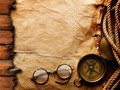Compass, rope and glasses - PhotoDune Item for Sale
