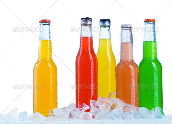 Close up view of the bottles - Stock Photo - Images