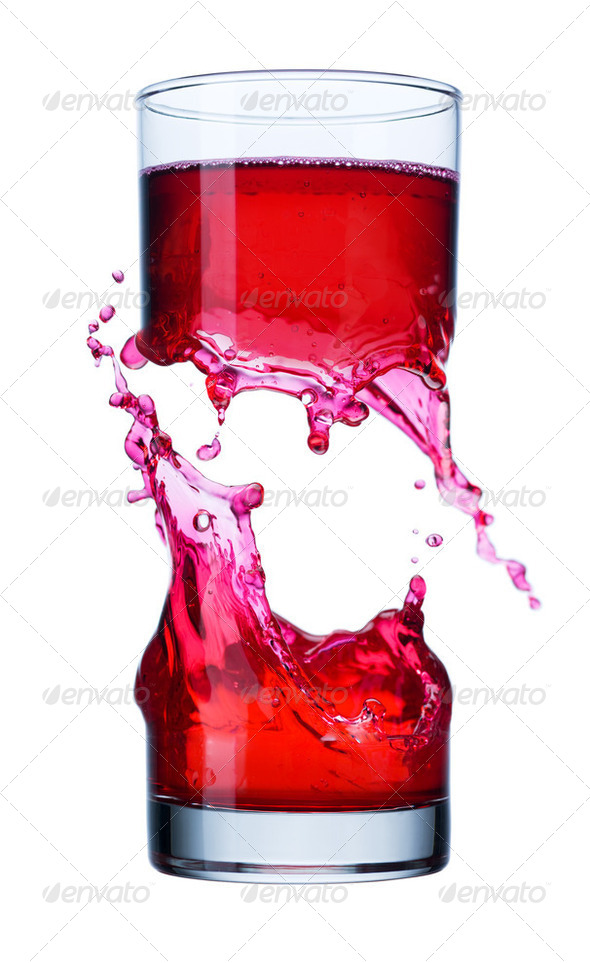beverage splash in a glass - Stock Photo - Images