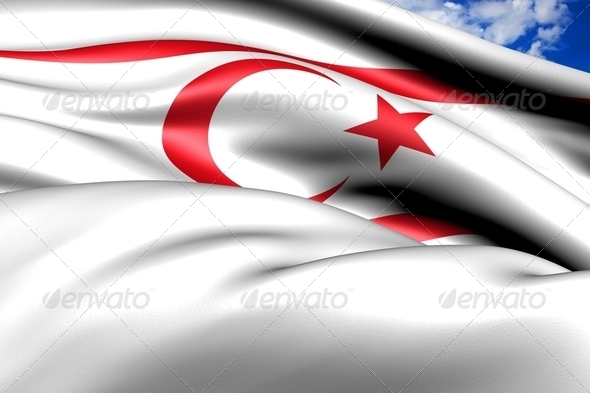 Flag of Turkish Republic of Northern Cyprus - Stock Photo - Images