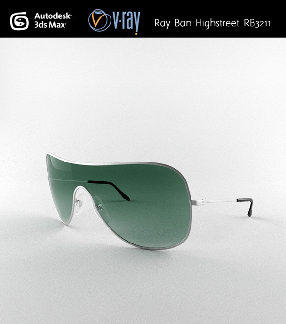 Ray Ban Highstreet RB3211 - 3DOcean Item for Sale
