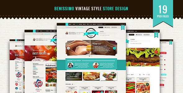 Bennissimo — vintage style store template - Food Retail