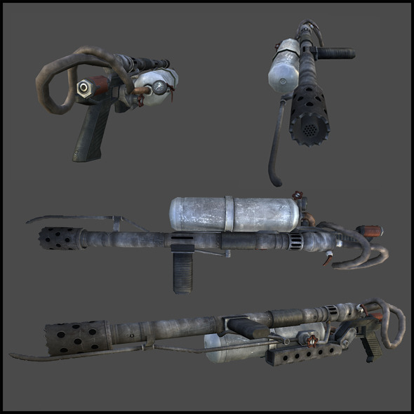 Flamethrower - 3DOcean Item for Sale