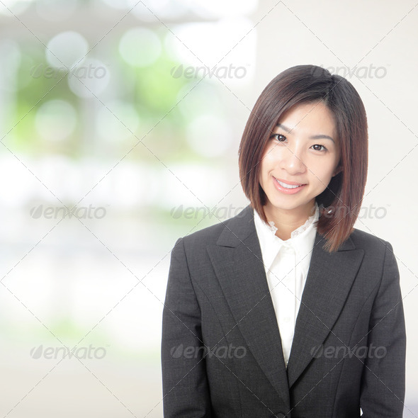 business woman smile portrait - Stock Photo - Images