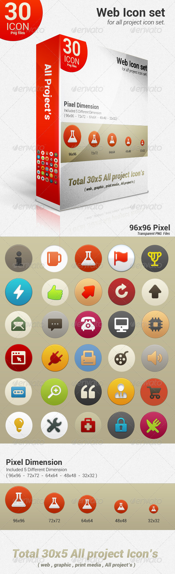 GraphicRiver All Project Icon Set 3357744
