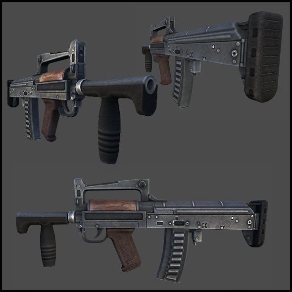 3DOcean OTs-14-4A Groza-4 assault rifle 3357745