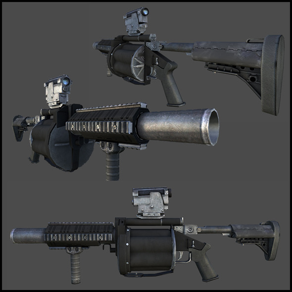 M32 Grenade Launcher (Milkor MGL) - 3DOcean Item for Sale