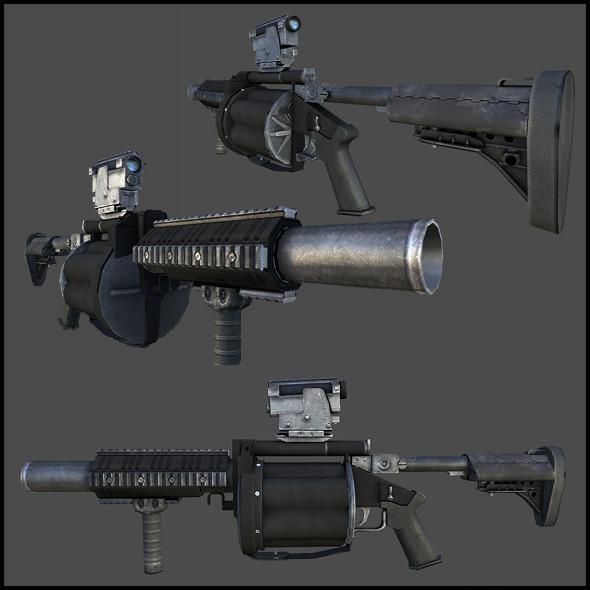 3DOcean M32 Grenade Launcher Milkor MGL 3357758