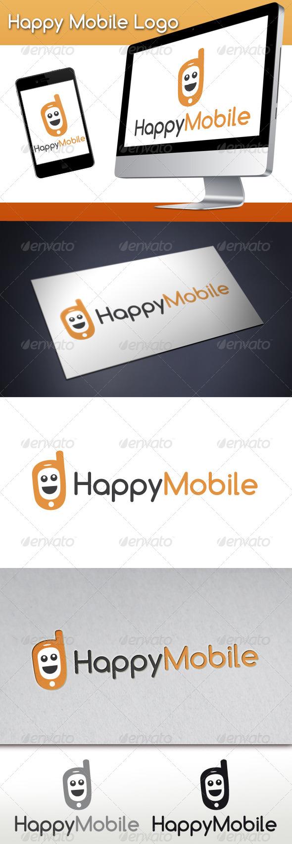 GraphicRiver Happy Mobile Logo 3357842