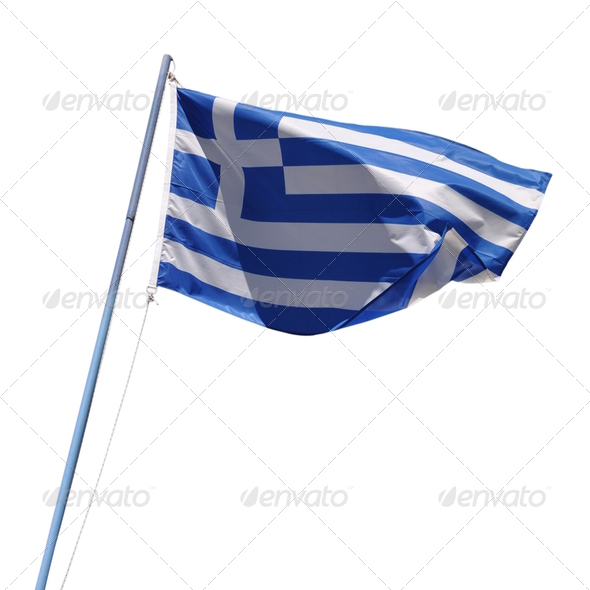 Greece flag - Stock Photo - Images