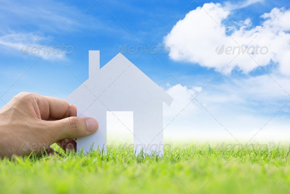 concept image of my house  - Stock Photo - Images