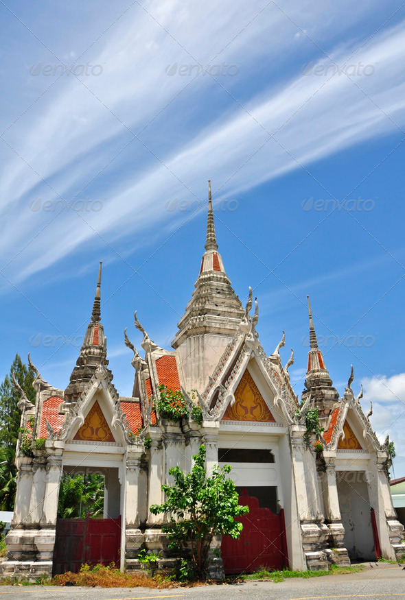 Beautiful of Buddhist temple - Stock Photo - Images