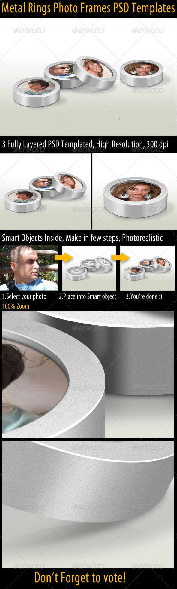 GraphicRiver Metal Rings Photo Frames 3357912