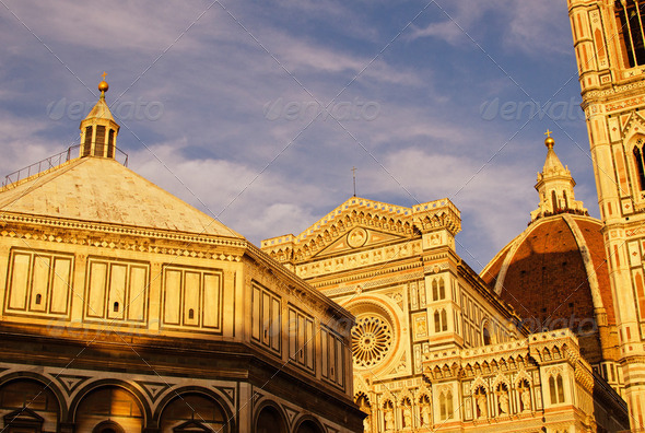 Colors of Piazza Duomo in Florence - Stock Photo - Images