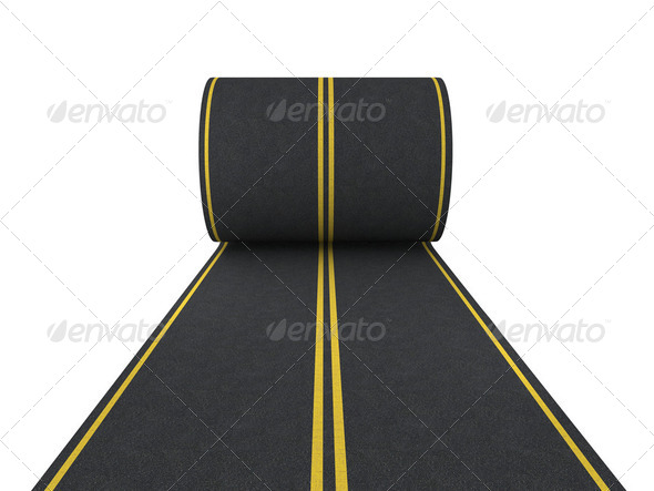 Pave the road - Stock Photo - Images