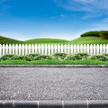 Roadside and white fence - PhotoDune Item for Sale