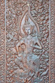 Angel woodcraft on temple door. - PhotoDune Item for Sale