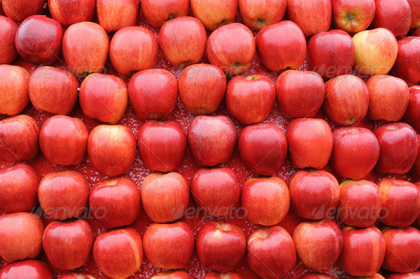Background of red apples - Stock Photo - Images
