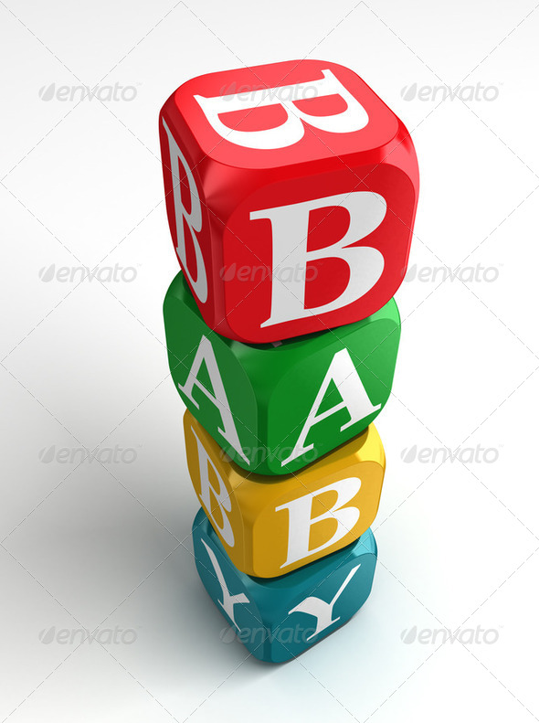 baby toy tower - Stock Photo - Images