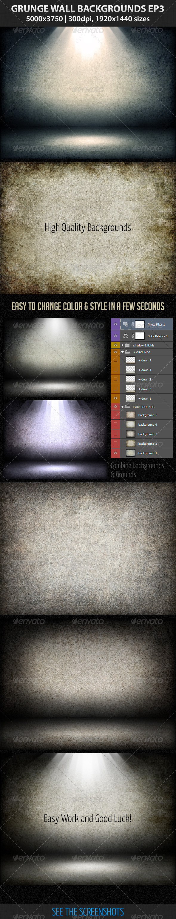 GraphicRiver Grunge Wall Backgrounds Ep 3 3319128