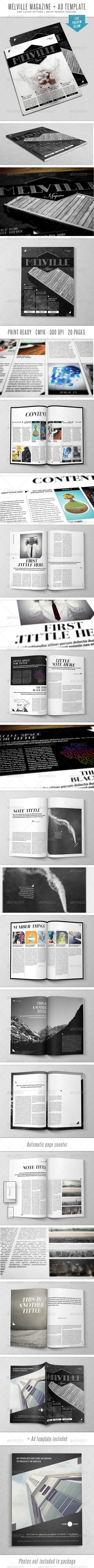 Melville InDesign Mgz Template - Magazines Print Templates