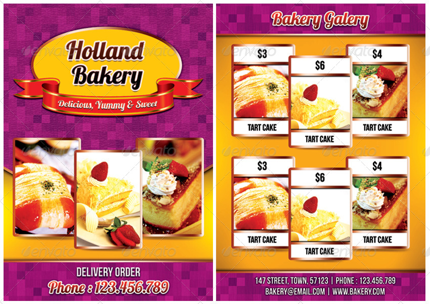 Bakery Flyer Template by meisuseno   GraphicRiver