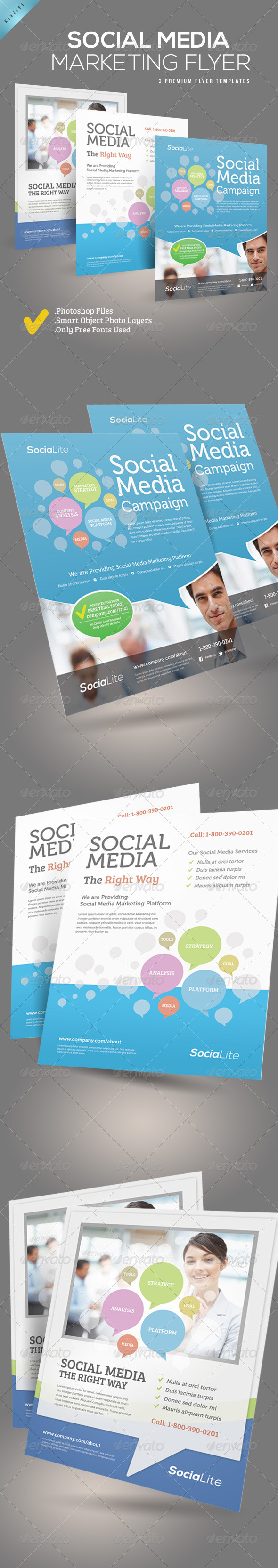 GraphicRiver Social Media Marketing Flyer 3358452