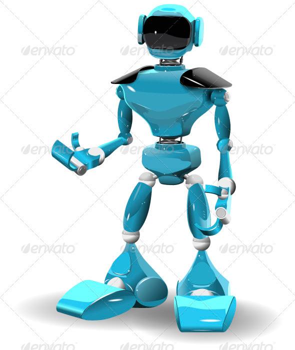 GraphicRiver Plastic robot 3355930