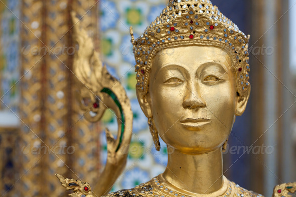 Golden Angle at Golden Palace, Bangkok, Thailand - Stock Photo - Images