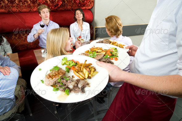 Serving food - Stock Photo - Images