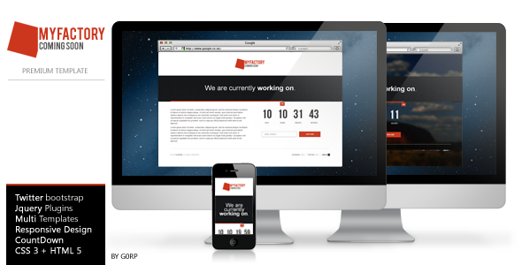 MyFactury - Coming Soon Responsive Template