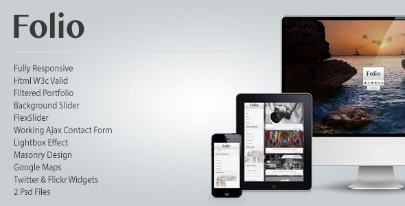 ThemeForest Folio Photography Responsive Html Theme 3336480