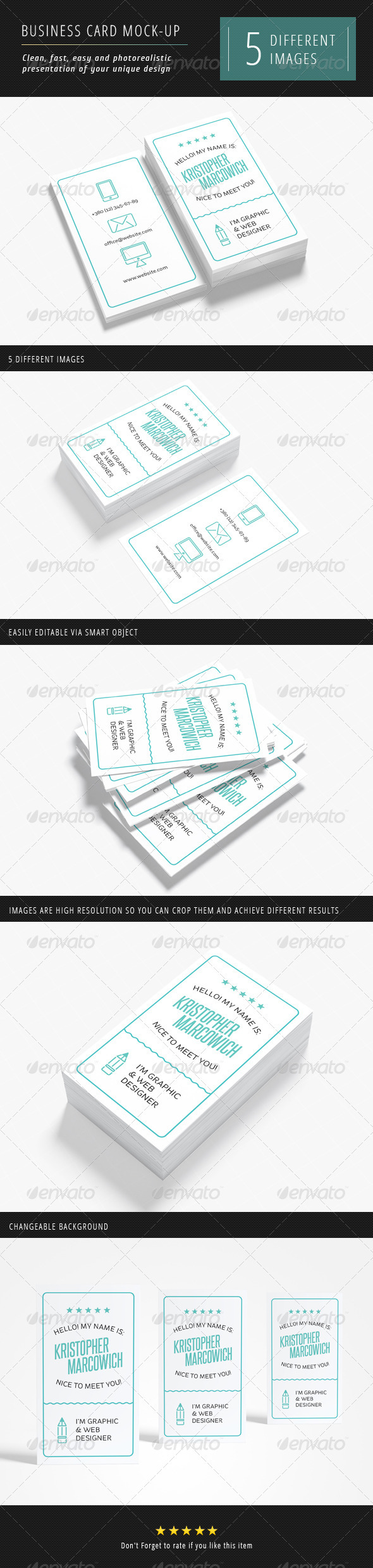 GraphicRiver Business Card Mock-up 3323764
