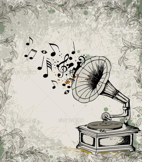 GraphicRiver Retro Music Background 3359867