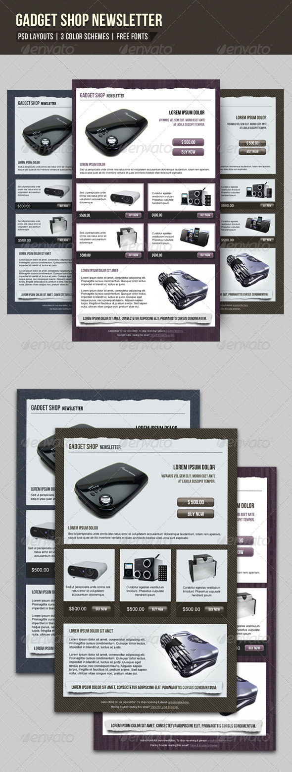 GraphicRiver Gadget Newsletter 3334098