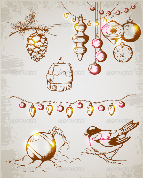 GraphicRiver Christmas Decorations 3359900