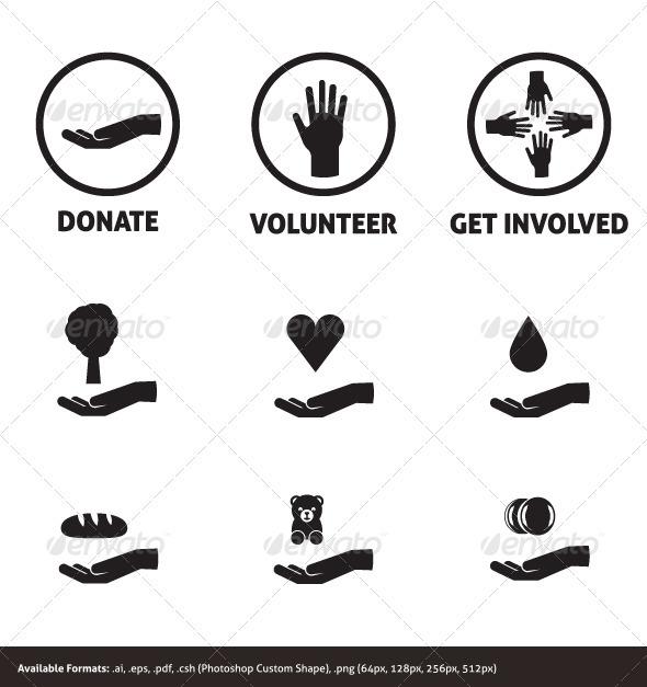 GraphicRiver Charity Icon Set 3352782