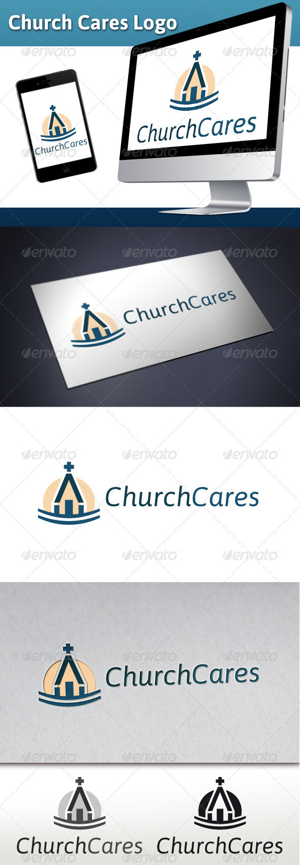 GraphicRiver Church Cares Charity Logo 3354677