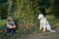 Boy with his dog in the park - PhotoDune Item for Sale