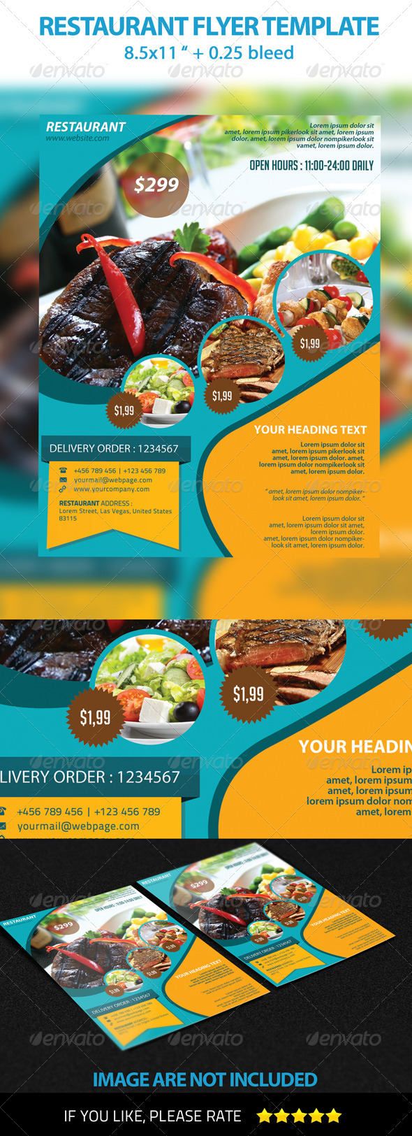 GraphicRiver Restaurant Flyer Template 3360640