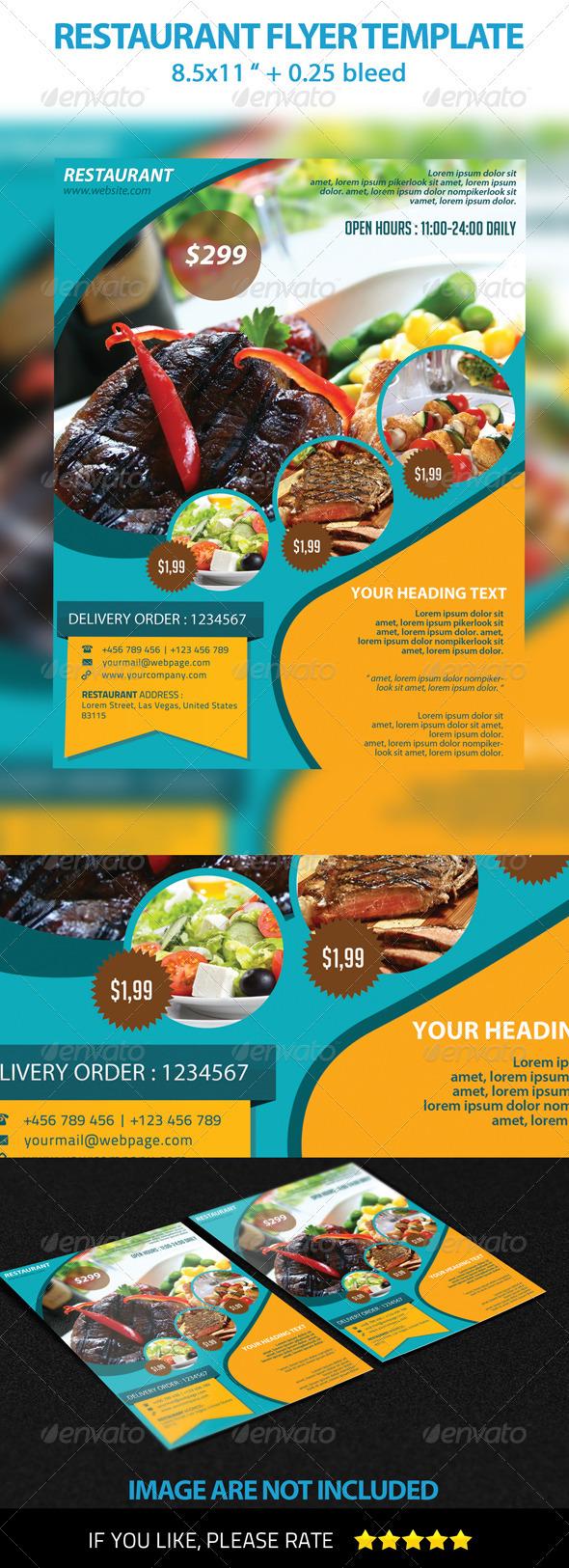 GraphicRiver Restaurant Flyer Template 3360640