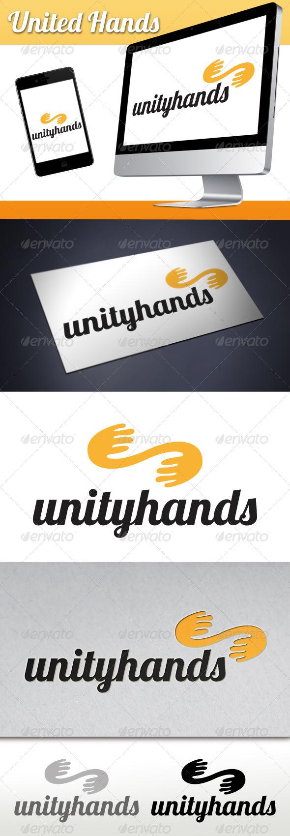 GraphicRiver United Hands Logo 3360800