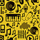 Music Seamless Pattern with Icons and Pictograms - GraphicRiver Item for Sale