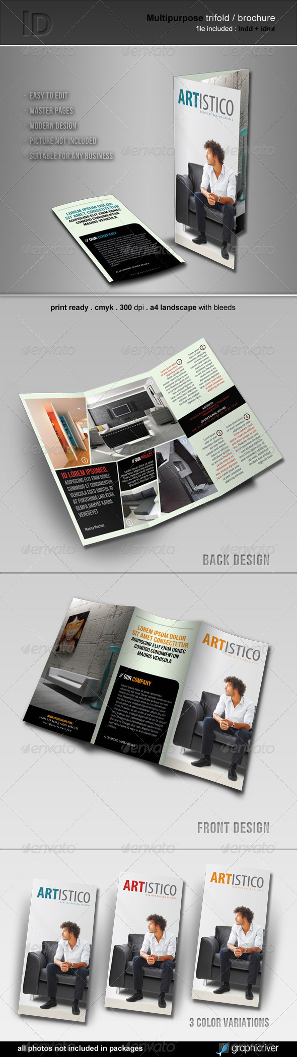 Multipurpose Trifold / Brochure - Corporate Brochures