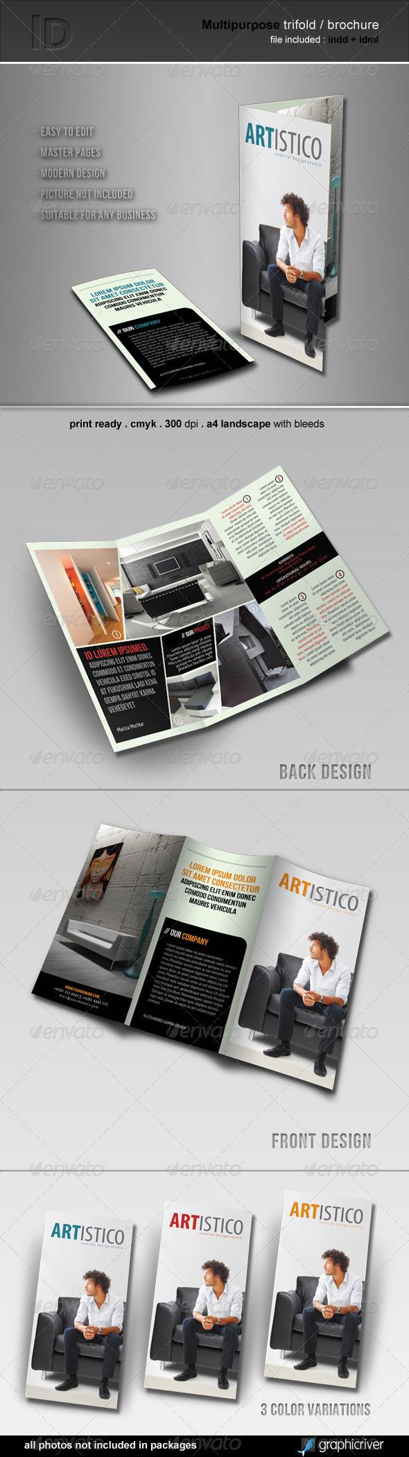 GraphicRiver Multipurpose Trifold Brochure 3361036