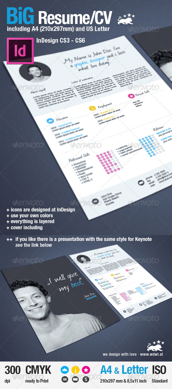 GraphicRiver BiG Resume CV & Reference 3344261