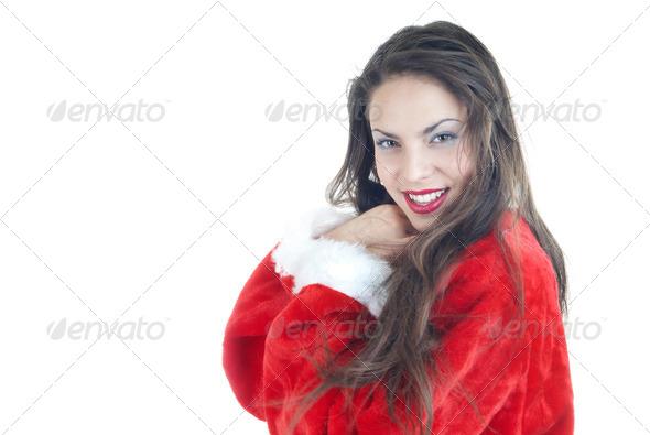 Female Santa - Stock Photo - Images