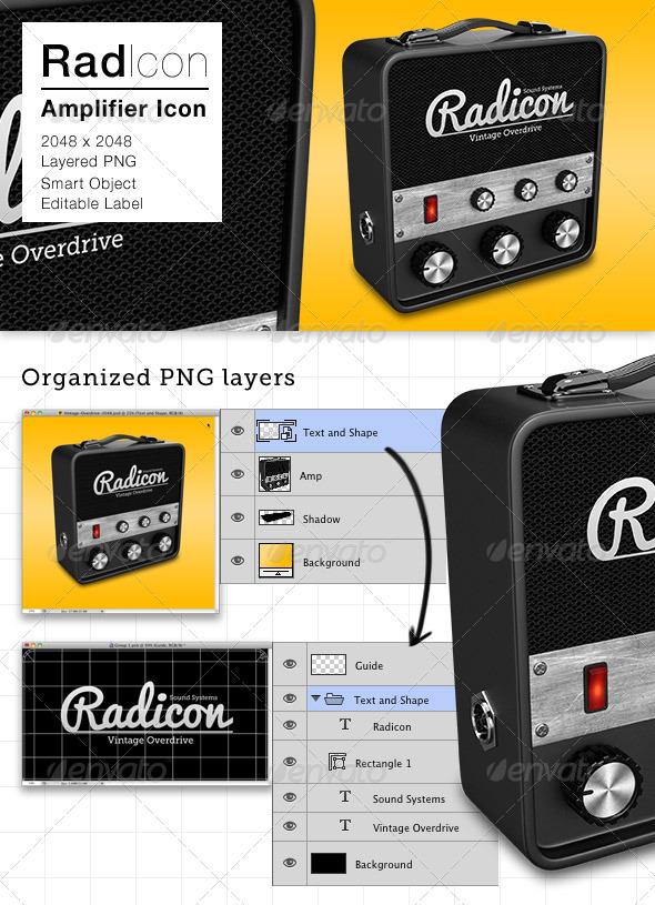 GraphicRiver Radicon Amplifier Icon 3361192