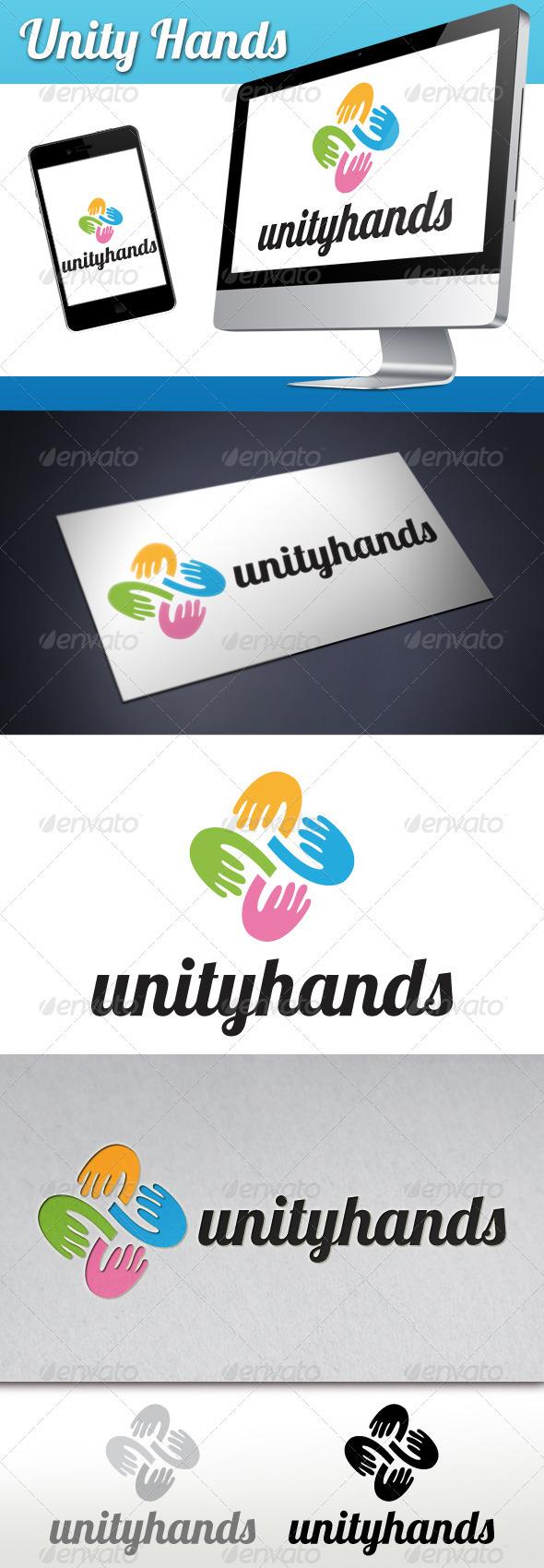 GraphicRiver Unity Hands Logo 3361237